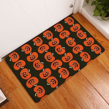 Autumn Fall welcome door mat doormat Halloween Pattern Home Entrance s Anti-slip Kids Bedroom Bedside Foot Pads Washable Kitchen Decor Carpet Bedside Rugs AT_76_7