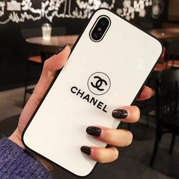 CHANEL Iphone7 phone shell 6s Iphone 6plus silicone case all-inclusive luxury transparent soft shell