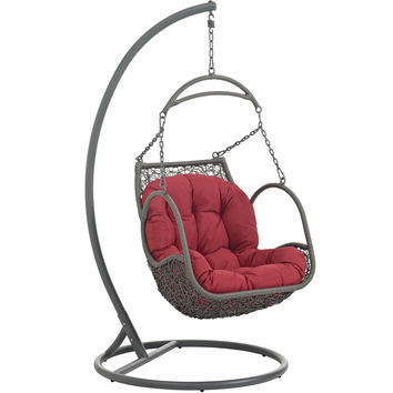 Arbor Outdoor Patio Wood Swing Chair by Modway Furniture