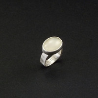 Ethereal Moonstone and silver ring