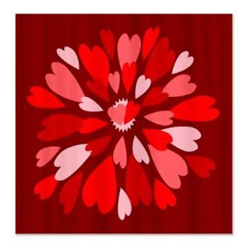 Hearts Galore Shower Curtain> Hearts for Valentine's Day> Jan4insight Designs