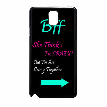 Best Friends Bff In Pairs Left 1 Samsung Galaxy Note 3 Case