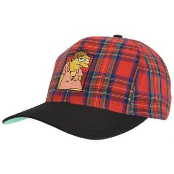 ESBGQ9 Simpsons - Barney Plaid Baseball Cap