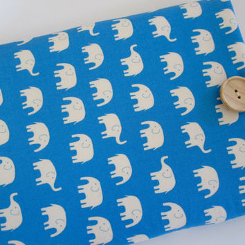 "Macbook Pro 13 Sleeve MAC Macbook Air / Pro 13"" inch Laptop Computer Case Cover Blue Elephant"