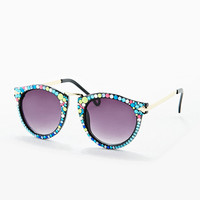 Spangled Embellished Preppy Sunglasses - Urban Outfitters