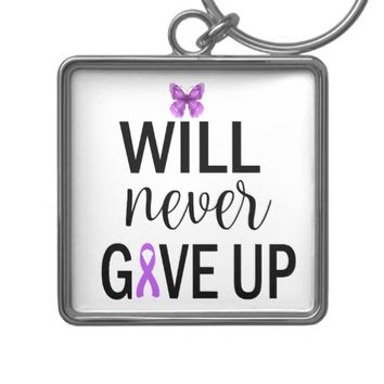 Will Never Give Up Fibro Key Chain