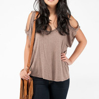 New Jersey Knit Top in Brown :: tobi
