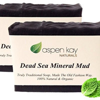 Dead Sea Mud Soap Bar - 2 Pack - 100% Organic & Natural Soap, With Activated Charcoal & Therapeutic Grade Essential Oils. Face Soap or Body Soap. For Men, Women & Teens. Chemical Free. Each Bar is 4oz