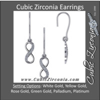 Cubic Zirconia Earrings- Infinity Sign