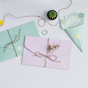2pcs/lot kawaii bouquet Japanese creative stationery gifts envelope writing paper supplies papelaria  stationery birthday card
