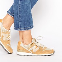 New Balance 996 Sand Leather & Mesh Trainers