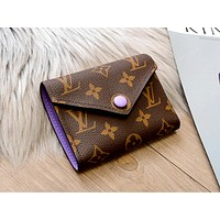 Free shipping-LV Tide brand multi-function wallet keychain