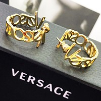 Versace New fashion letter long earring women Golden