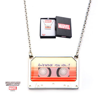 Marvel Guardians of the Galaxy Awesome Mix Vol. 1 Tape Pendant with Chain Necklace