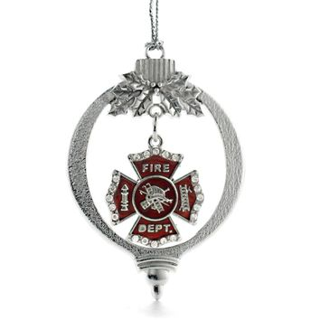 Firefighter Badge Charm Holiday Ornament