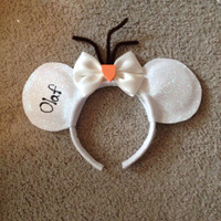 Olaf from Disneys frozen inspired Mickey ears