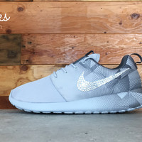 Nike Roshe One Customized by Glitter Kicks - Gray/Geometric Pattern