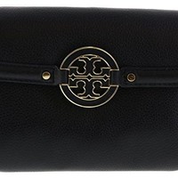Tory Burch Amanda Pebbled Leather Chain Wallet Crossbody Clutch