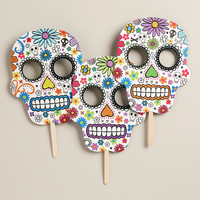 Day of the Dead Skull  Masks, Set of 3 - World Market