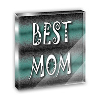 Best Mom Admiration Respect Mini Desk Plaque and Paperweight