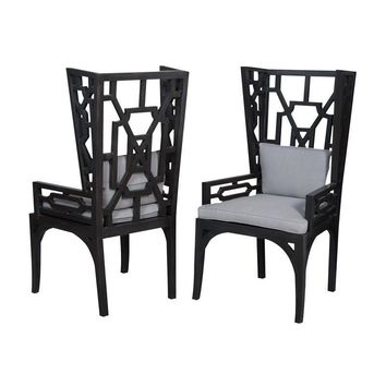 Manor Wing Chairs - Set of 2 Gray