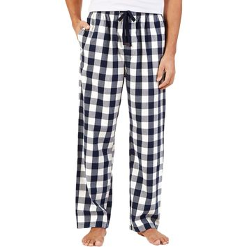Nautica Mens Cotton Checkered Lounge Pants