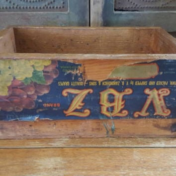 Old wooden fruit crate, Vintage fruit crate