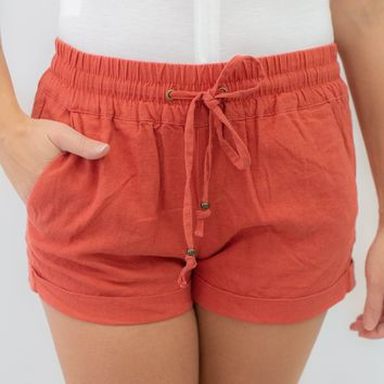 On The Grind Shorts - Vermilion