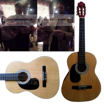 LoCash Cowboys Band Autographed Full Size 39 Inch Country Music Acoustic Guitar, Proof