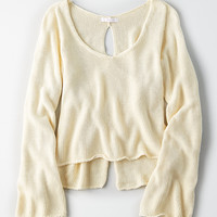 Don't Ask Why Bell Sleeve Sweater, Natural