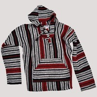 Red And Tan Stripe Baja Hoodie