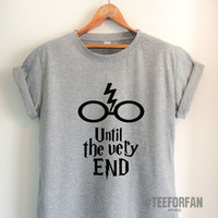 Harry Potter Shirts Harry Potter Merchandise Until The Very End Quote Deathly Hallows T Shirts Clothes Apparel Top Tee for Women Girls Men