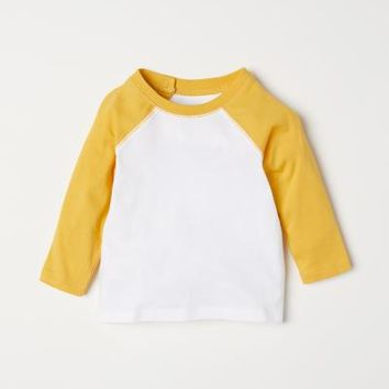 Long-sleeved T-shirt - Yellow - Kids | H&M US