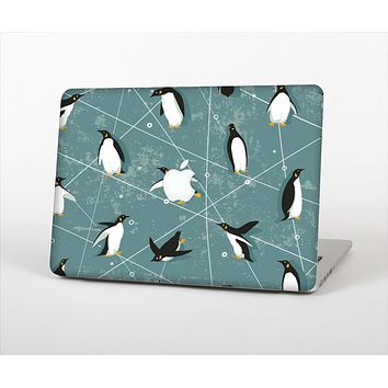 The Vintage Penguin Blue Collage Skin Set for the Apple MacBook Air 11""