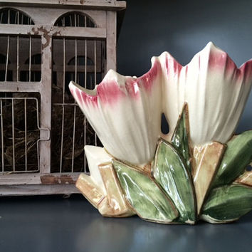 McCoy Double Tulip Planter/Vase