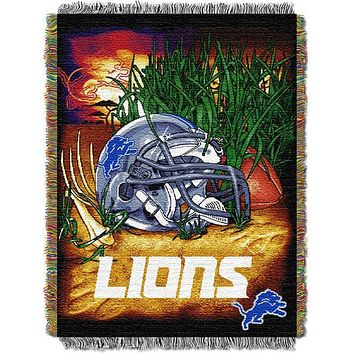 "promo code ddfa4 0b343 Detroit Lions NFL Home Field Advantage 48""x 60"" Woven Tapestry T"