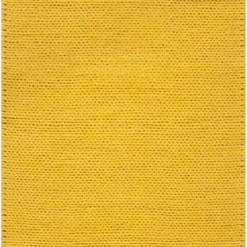 Fargo Collection 100% New Zealand Wool Braided Area Rug in Golden Raisin design by Surya
