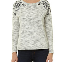 19Nineteen Cream embroidered sweat - Tops & T-Shirts - Clothing - Dorothy Perkins