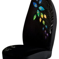 Peacock Universal Bucket Seat Cover, Black
