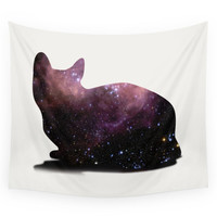 Society6 Willow The Galaxy Cat! Wall Tapestry