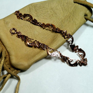 Kokopeli Bracelet Native American Design Style Copper Bracelet Southwest Ships Free Fertility Jewelry