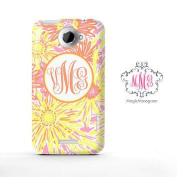Yellow Sun Kissed Lilly Pulitzer Monogram HTC Case M9, M8 Case
