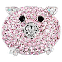 Pig Rhinestone Body Brooch