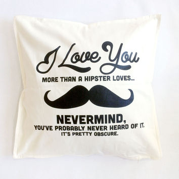Hipster Love Throw Pillow