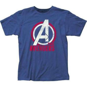 Mens Marvel The Avengers Logo Retro T-Shirt