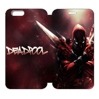 "Deadpool Wallet Case w/ Stand Flip Cover for iPhone 6/6s (4.7"")"