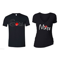 XtraFly Apparel Soul Mate Valentine's Matching Couples Short Sleeve T-shirt