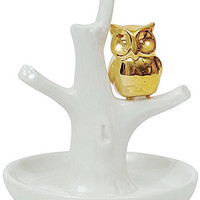 On Gilded Wings Owl Ring Holder - PLASTICLAND