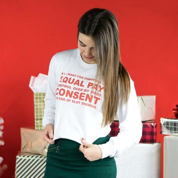 Feminist Wish List Long Sleeve