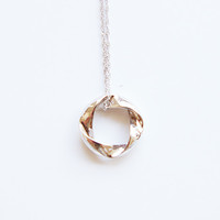 Sterling silver Infinity circle pendant and chain